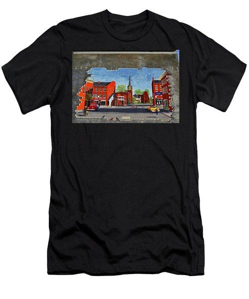 Building Mural - Cuba New York 001 Men's T-Shirt (Athletic Fit)