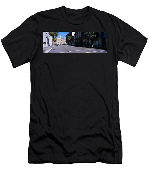 Buildings On Both Sides Of A Road Men's T-Shirt (Athletic Fit)
