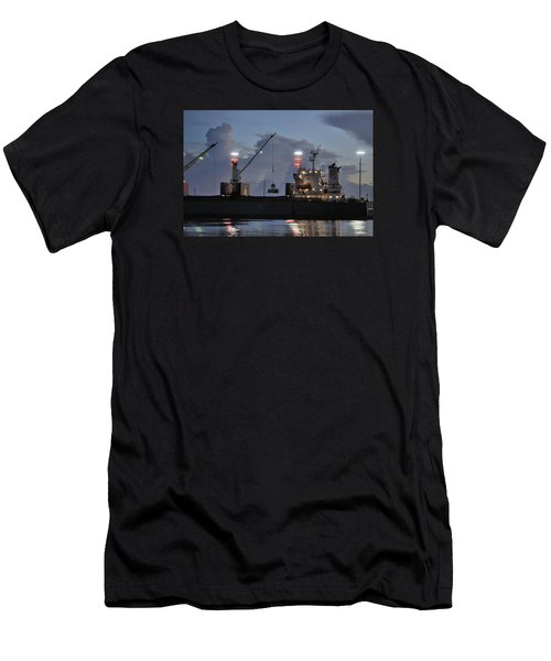 Bulk Cargo Carrier Loading At Dusk Men's T-Shirt (Athletic Fit)