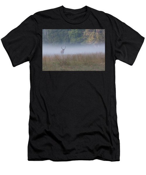 Bull Elk Disappearing In Fog - September 30 2016 Men's T-Shirt (Athletic Fit)