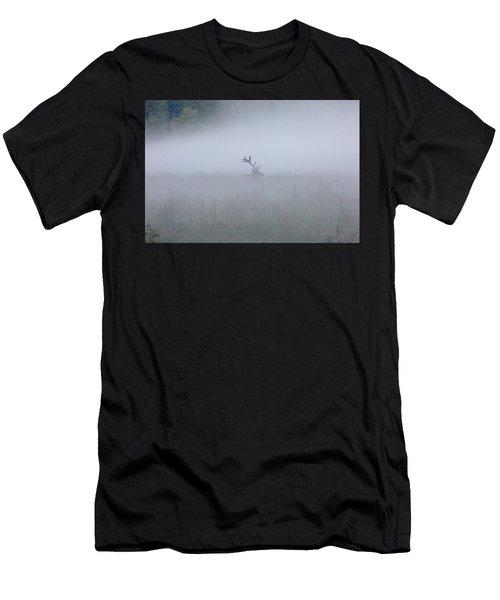 Bull Elk In Fog - September 30, 2016 Men's T-Shirt (Athletic Fit)