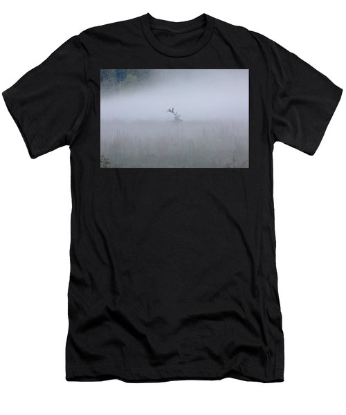 Bull Elk In Fog - September 30, 2016 Men's T-Shirt (Athletic Fit)