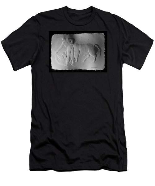 Men's T-Shirt (Slim Fit) featuring the relief Bull Fighter by Suhas Tavkar