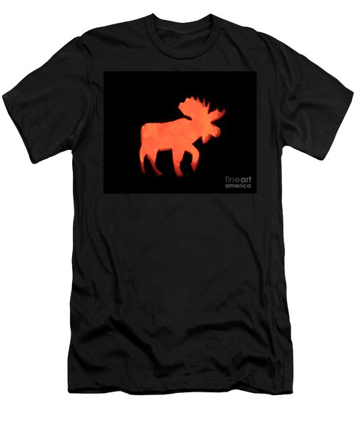 Bull Moose Pumpkin Men's T-Shirt (Athletic Fit)