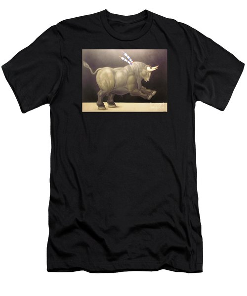 bull painting Botero Men's T-Shirt (Athletic Fit)