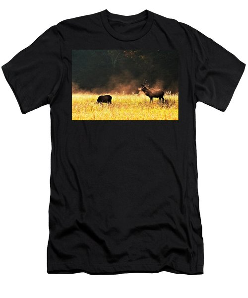 Bull With His Girl Men's T-Shirt (Athletic Fit)