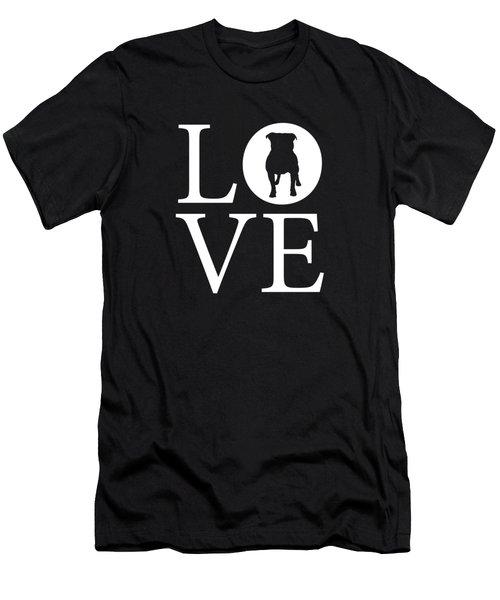 Bulldog Love Men's T-Shirt (Athletic Fit)