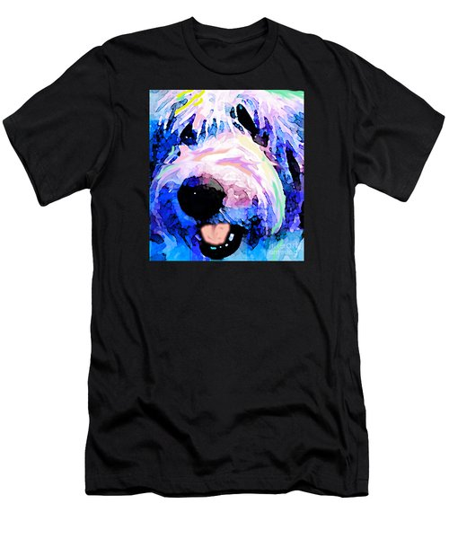 Bumble Bear Men's T-Shirt (Slim Fit) by Alene Sirott-Cope