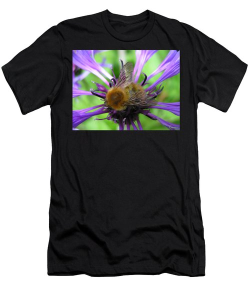 Bumblebee In Blue Men's T-Shirt (Athletic Fit)