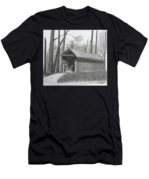 Bunker Hill Covered Bridge  Men's T-Shirt (Athletic Fit)