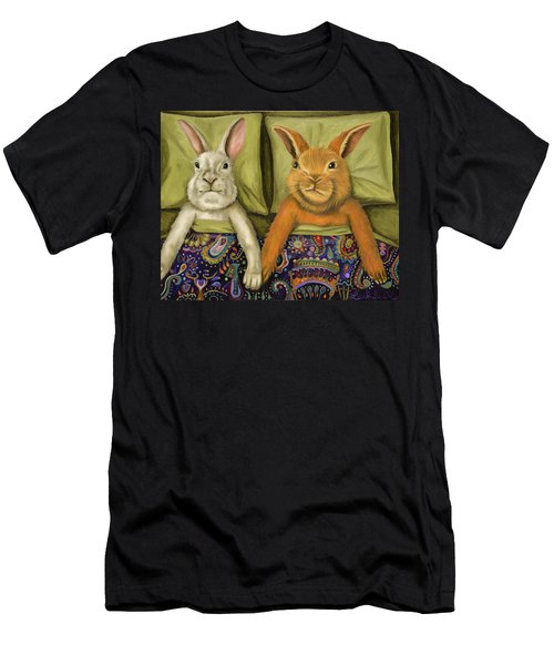 Bunny Love Men's T-Shirt (Slim Fit) by Leah Saulnier The Painting Maniac