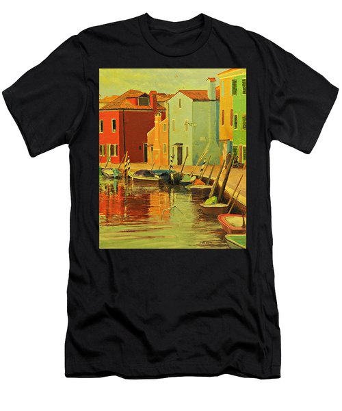 Burano, Italy - Study Men's T-Shirt (Athletic Fit)