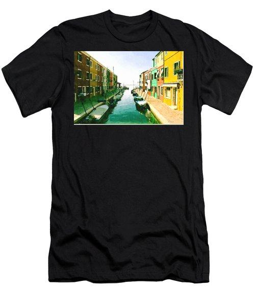 Burano Venice Men's T-Shirt (Slim Fit) by Kai Saarto