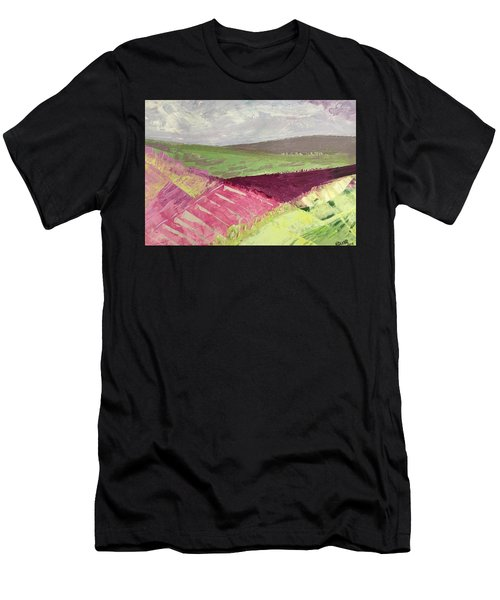 Burgundy Fields Men's T-Shirt (Athletic Fit)
