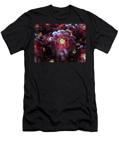 Burgundy Succulenta Men's T-Shirt (Slim Fit) by Douglas Barnard