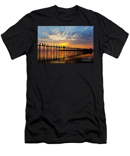 Men's T-Shirt (Slim Fit) featuring the photograph Burma_d819 by Craig Lovell
