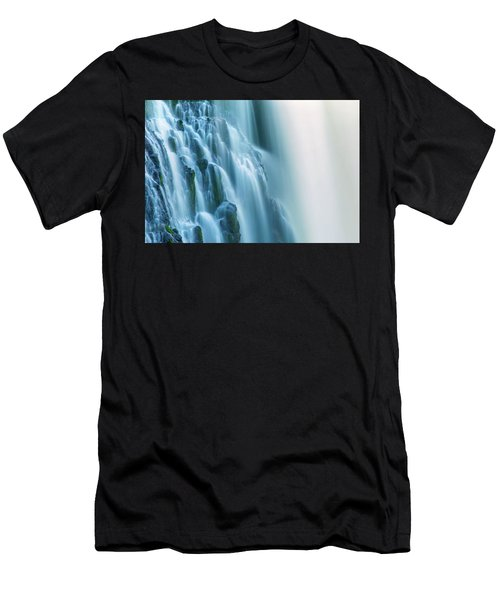 Burney Falls Close Up Men's T-Shirt (Athletic Fit)