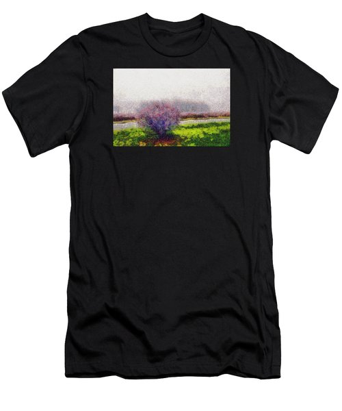 Men's T-Shirt (Slim Fit) featuring the photograph Burning Bush by Spyder Webb