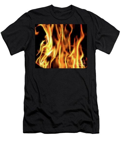 Burning Flames Fractal Men's T-Shirt (Athletic Fit)