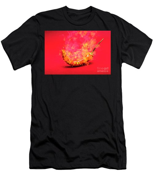 Burning Red Hot Chili Pepper. Mexican Food Men's T-Shirt (Athletic Fit)