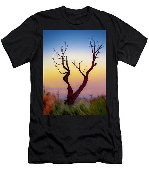 Burnt Cedar At Sunset Men's T-Shirt (Slim Fit) by Gary Warnimont