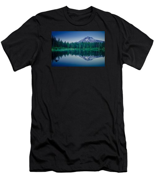 Burnt Lake Reflection Men's T-Shirt (Athletic Fit)