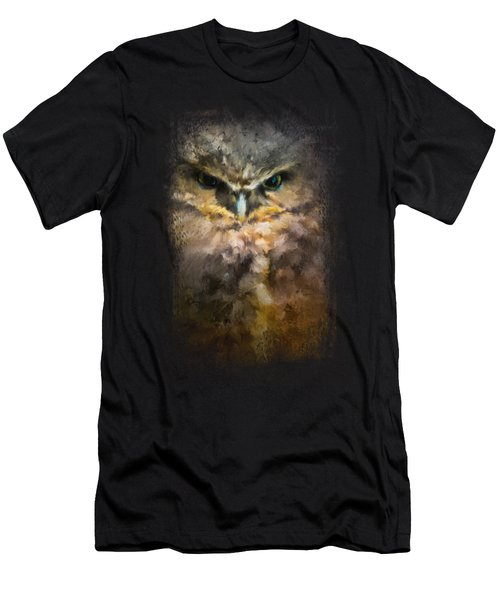 Burrowing Owl Men's T-Shirt (Slim Fit) by Jai Johnson