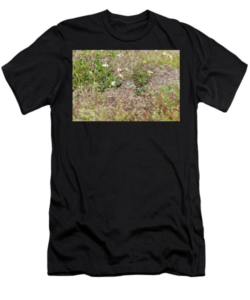 Burrowing Owl Outside His Home Men's T-Shirt (Athletic Fit)