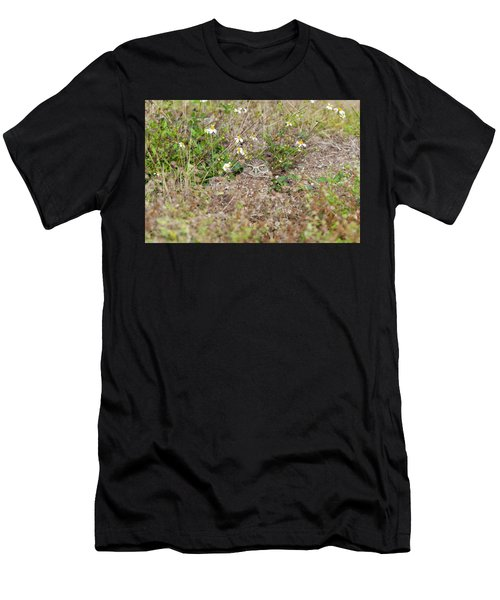 Men's T-Shirt (Athletic Fit) featuring the photograph Burrowing Owl Outside His Home by Dan Friend
