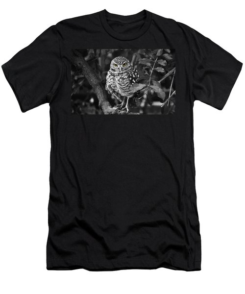 Burrowing Owl  Selective Color Eyes Men's T-Shirt (Slim Fit) by Judy Wanamaker