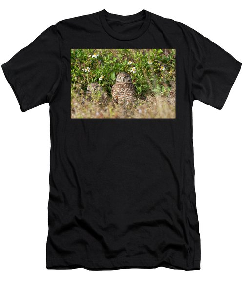 Burrowing Owls Outside Their Den Men's T-Shirt (Athletic Fit)
