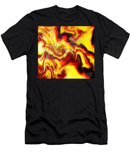 Burst Of Energy Men's T-Shirt (Athletic Fit)