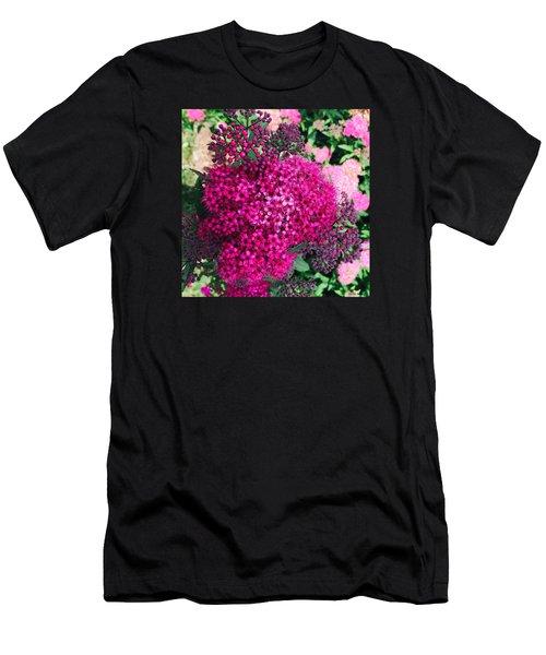 Burst Of Pink Delight Men's T-Shirt (Athletic Fit)