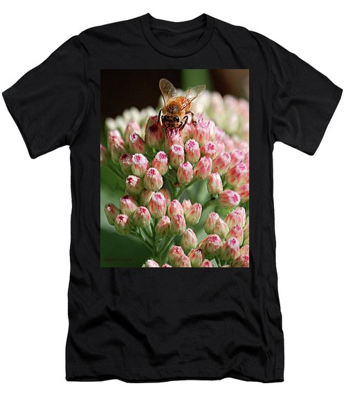 Busy Bee Men's T-Shirt (Slim Fit) by DigiArt Diaries by Vicky B Fuller