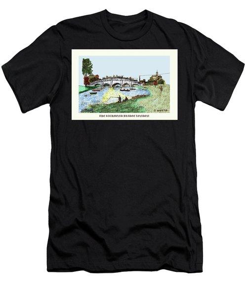 Busy Richmond Bridge Men's T-Shirt (Athletic Fit)