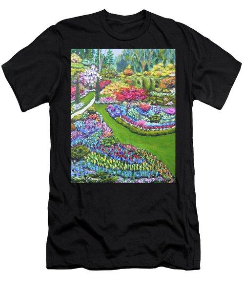 Butchart Gardens Men's T-Shirt (Athletic Fit)