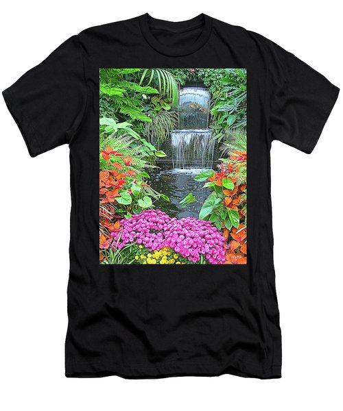 Butchart Gardens Waterfall Men's T-Shirt (Athletic Fit)