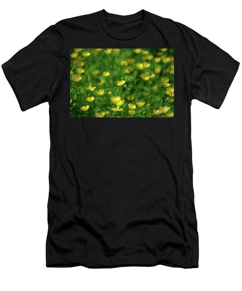 Buttercup Field- Butler Creek Trail- Gresham- Oregon Men's T-Shirt (Athletic Fit)