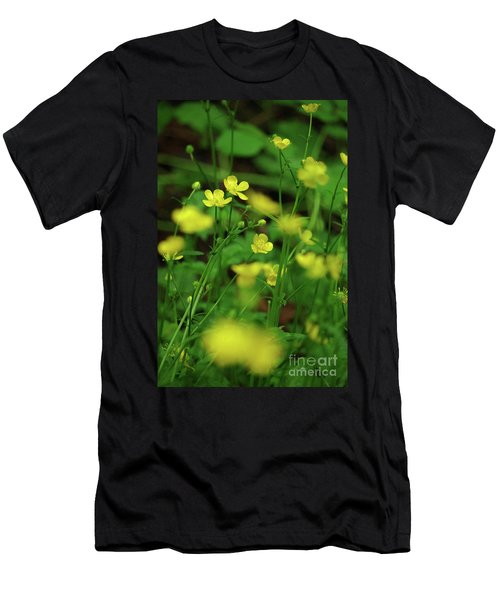 Buttercup Grouping- Vertical- Butler Creek Trail Men's T-Shirt (Athletic Fit)