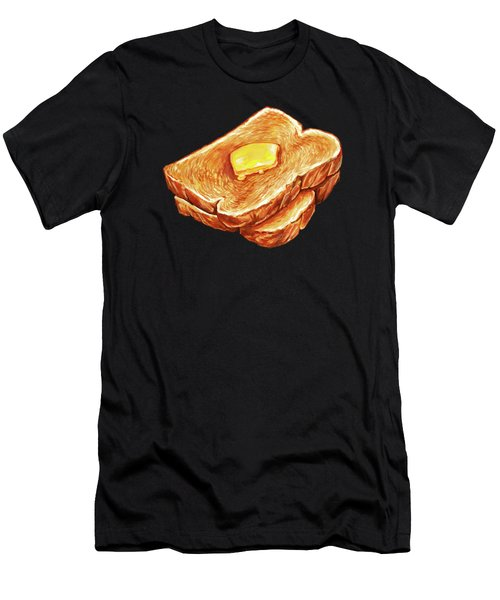 Buttered Toast Pattern Men's T-Shirt (Athletic Fit)