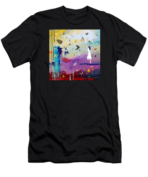 Butterflies And Me Men's T-Shirt (Athletic Fit)