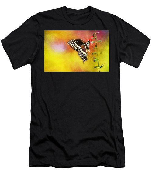 Butterflies Are Self Propelled Flowers Men's T-Shirt (Athletic Fit)