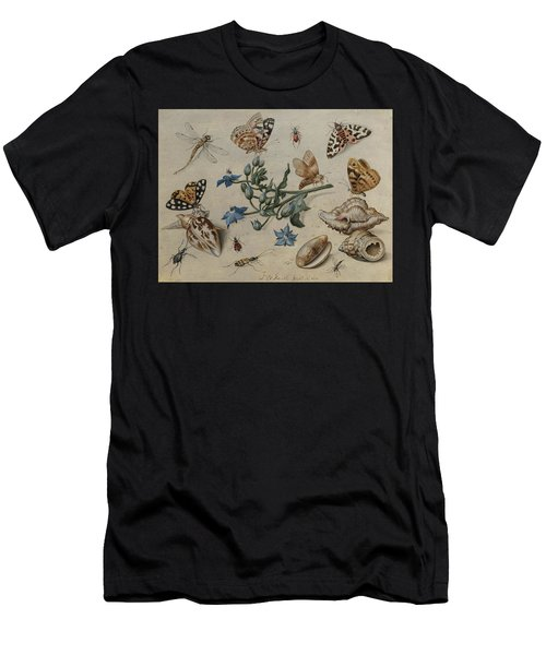 Butterflies, Clams, Insects And Flowers Men's T-Shirt (Athletic Fit)