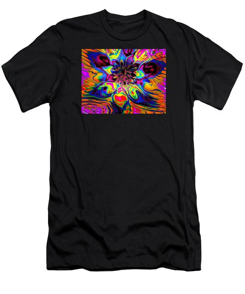 Men's T-Shirt (Slim Fit) featuring the digital art Butterfly Abstract by Maciek Froncisz