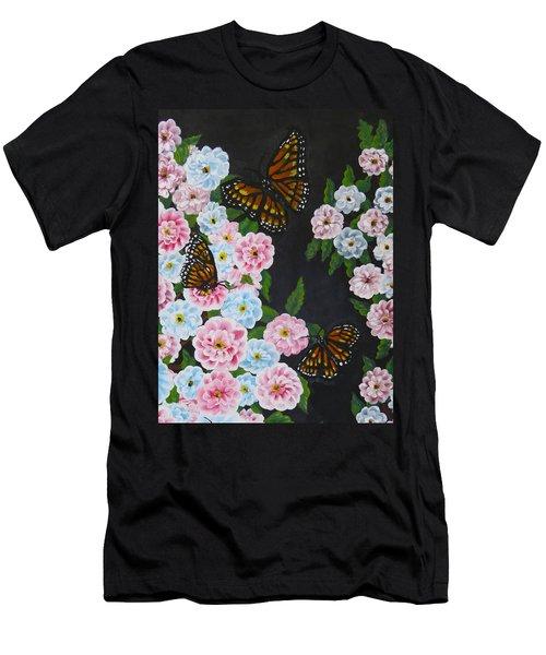 Butterfly Beauty Men's T-Shirt (Slim Fit) by Teresa Wing