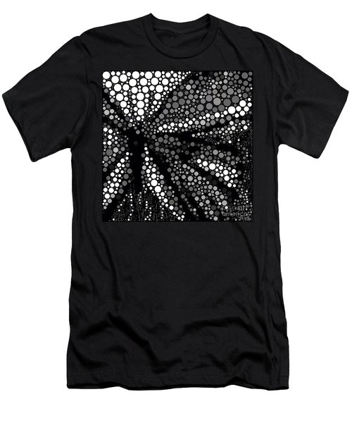 Butterfly Black And White Abstract Men's T-Shirt (Athletic Fit)