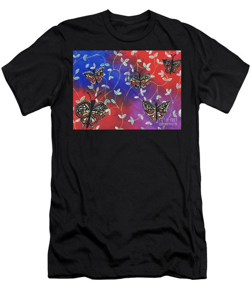 Butterfly Family Tree Men's T-Shirt (Athletic Fit)