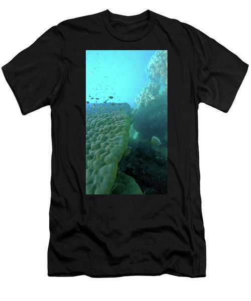 Men's T-Shirt (Athletic Fit) featuring the photograph Butterfly Fish  by Debbie Cundy