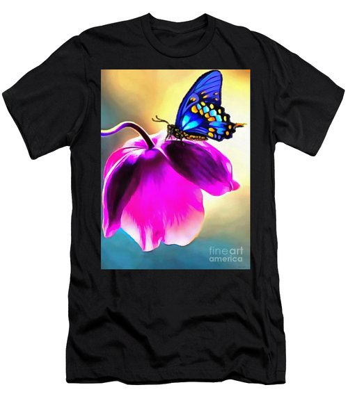 Butterfly Floral Men's T-Shirt (Athletic Fit)