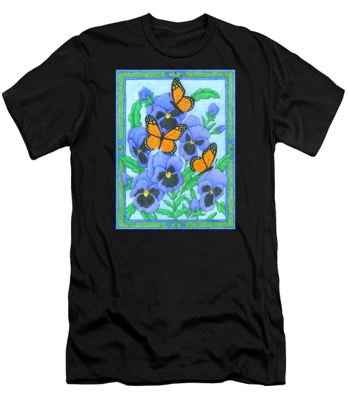 Butterfly Idyll-pansies Men's T-Shirt (Athletic Fit)